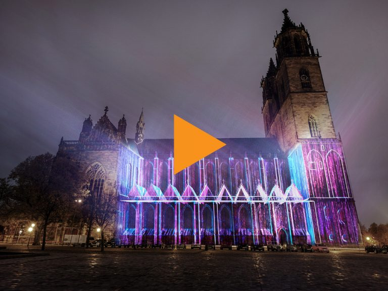 Magdeburg in Light 2020 - see Video trailer on youtube