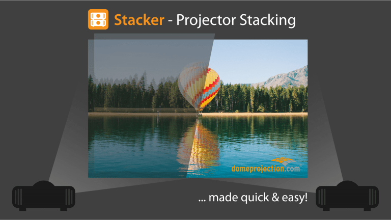 domeprojection.com Stacker App before, afterwards
